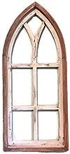 Farmhouse wood wall window, Arch window frame, Farmhouse cottage decor, Cathedral window frame, Distressed chippy paint, Wall decor, Farmhouse wall, Window frame