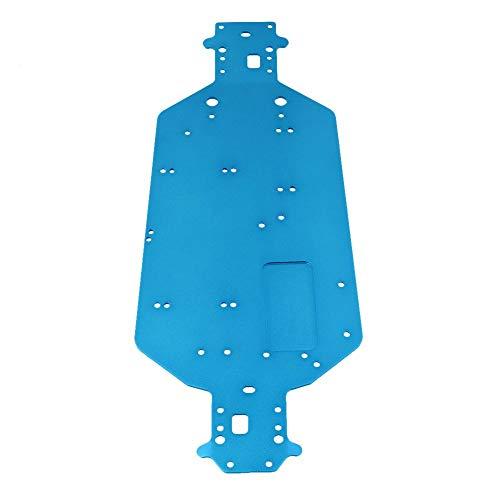 Gaoominy RC Coche 1/10 HSP 04001 Piezas de ActualizacióN de Chasis de Metal de AleacióN de Aluminio para Buggy Bigfoot Truck 94107 94170 94118 94111 Azul