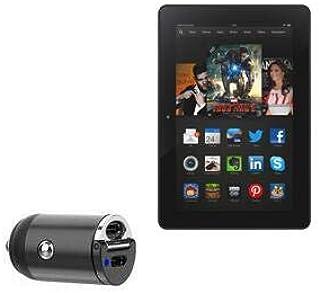 Carregador de carro Kindle Fire HDX 8.9 (3ª geração 2013), BoxWave [Mini carregador de carro Dual PD] Rápido, 2 carregador...