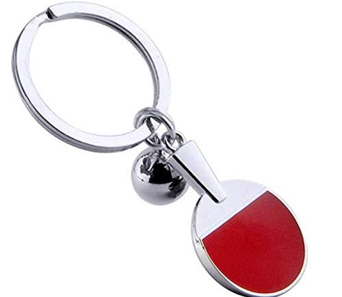 Sportigo ® Tischtennis Schlüsselanhänger/Tischtennisschläger mit Ball/Tisch Tennis Geschenk