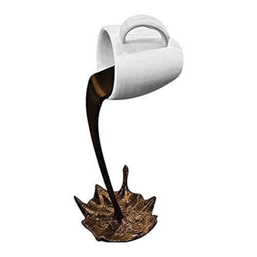 spier Neuheit schwimmende Kaffeetasse Skulptur Resing Kaffeetasse schwimmende verschüttete Kaffeetasse Skulptur für Home Desk Ornamente Dekor