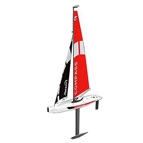Lllunimon Barco RC Control Remoto Velero 65Cm 2.4G Modelo De Barco Premontado DIY, RG65 Clase Competición Barco RC RTR para Principiantes, Adultos