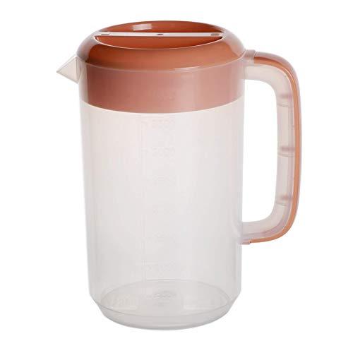 Jarras de medición de plástico, Jarra de plástico de la taza de medición con la tapa de la tapa de la taza de la taza de mezcla de la taza de mezcla antiadherente, para la cocina, 2.5L / 4L / 5L, blan