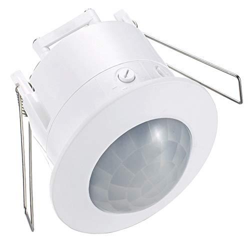 Interruptor de Techo Luz de 360 Grados Empotrable automático PIR Ocupación infrarroja Sensor de Movimiento Detector electrónico