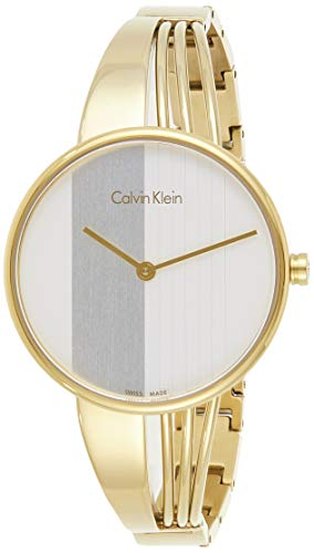 Calvin Klein Damen Analog Quarz Uhr mit Edelstahl Armband K6S2N516