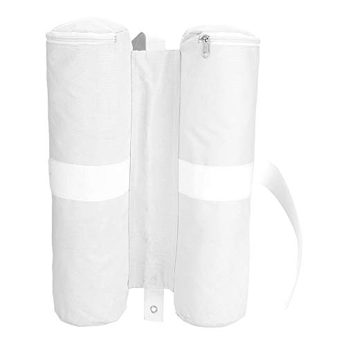 Dioche Bolsas de Peso de la Carpa, Canopy Ponderada Bolsas de Arena Sombrilla Emergente Tienda de Campaña Pie Patas de Refugio de Sol Al Aire Libre(Blanco)