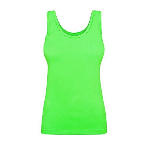 Assoluta Damen Tank Top, Größe XL, neon grün