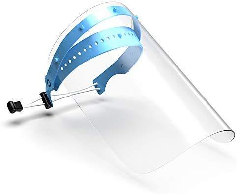 Visiere protettive 1 staffa e 10 coperture trasparente Schermo facciale di sicurezza con staffa regolabile leggera e visiera anti-polvere