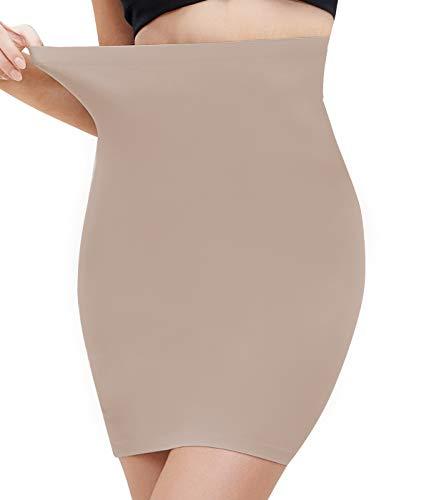 COMFREE Falda para Mujer Shapewear Moldeadora el Control de Barriga Cintura para Adelgazar Faja Moldeadora de Cintura Beige S