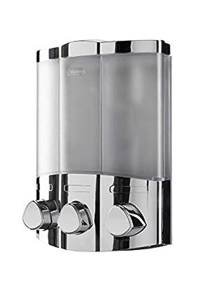 Croydex Euro - Dispensador de jabón Trio, Color metálico