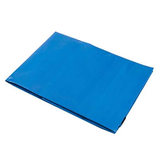 Bâche en toile épaisse de bâche en plastique épaisse de bâche de protection bleue et blanche de bâche de protection imperméable de bâche imperméable à l'eau de PE de matériel ( Size : 2.8x4.8 meters )