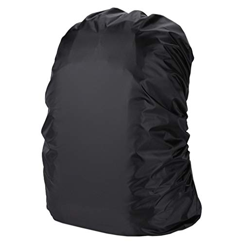 Rain Cover Backpack 20L-80L Waterproof Bag Tactical Outdoor Camping Hiking Climbing Dust Raincover Black (black S)