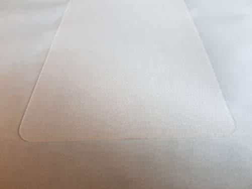 Eine Anti Rutsch Stufen Matte in 65 cm x 15 cm rechteckig transparent selbstklebend fein geprägt R-11 geprüft, auch als Kratz + Stufenschutz