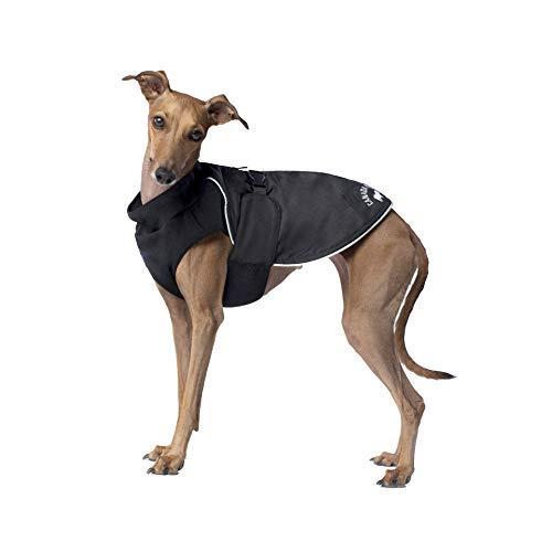Canada Pooch | Expedition Dog Coat | Reflective Fleece-Lined Dog Jacket (20, Black), 20 (19-21