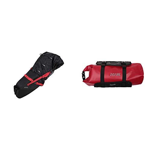 Zefal Unisex's Z-Adventure - Bolsa para sillín (17 L), Color Negro + Z Adventure F10 Paquete de Manillar, Unisex Adulto, Negro/Rojo, 10 litros