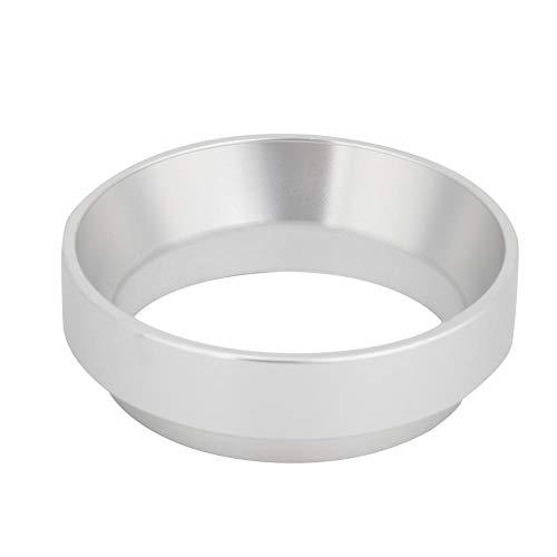 58mm Aluminium Universal Kaffee Dosierring Trichter Ersatz Kaffeemaschine Zubehör für Kaffeemaschine, Notwendiges Werkzeug für handgemachten Kaffee(Silber)