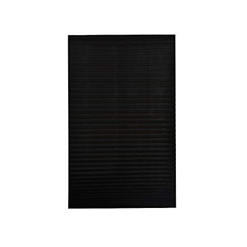 Persianas plissadas de blackout, persiana para janela de casa, sem fio, para bloqueio e filtragem da luz, tecido preto, 89 x 150 cm