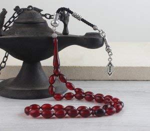 BayVog Cukur Motif Islamic Tesbih Natural Amber Prayer Beads
