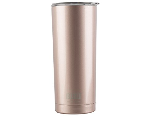 BUILT Tumbler Double Wall Stainless Steel Vacuum Insulated, 20-Ounce, Rose Gold