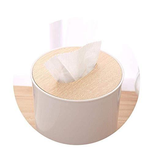 Pyrojewel Tejido caja de pañuelos de dispensadores de papel higiénico caja de almacenamiento caja de pañuelos plástica creativa de la caja de escritorio de bombeo de envases de papel servilleta de pap