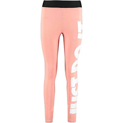 Nike Damen Legasee Leggings Hw Just Do It, Pink Quartz/White, L