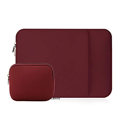 Laptop Sleeve 11 12 13 14 15 15.6 inch ntebook case Soft Bag for acbook Air Pro Retina Tablet Pocket-Winer-P_Set_11 inch