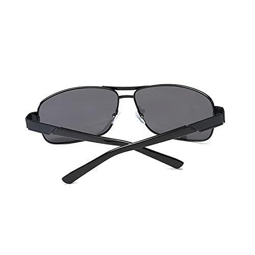 BANLV Gafas de Sol polarizadas de Metal, Gafas de Sol de conducción para Hombres en Bicicleta, Gafas de Sol cuadradas para conducción