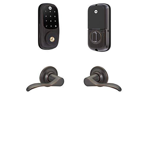 Yale Security B-YRD226-ZW-NW-0BP Yale Assure Lock Z-Wave Norwood Works with Ring Alarm, Smartthings, and Wink Smart Touchscreen Deadbolt with Matching Lever, Bronze