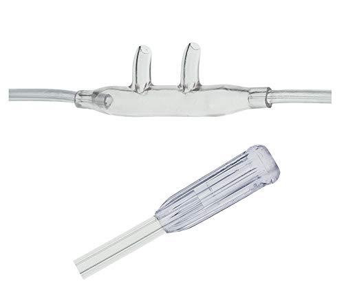 Sauerstoff Nasenbrille High Flow, gebogene Stutzen für Erwachsene inkl. 2,1m Schlauch