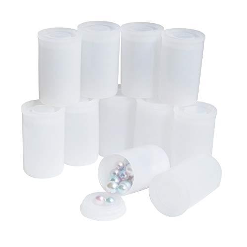 Filmdosen mit Kappen, DGQ 35 mm dichte Verschlussdeckel, weiße Kunststoff-Folienbehälter, leere Kameraschutzbehälter, zur Aufbewahrung von kleinem Zubehör, Film, Schlüssel, Münzen, Kunstperlen