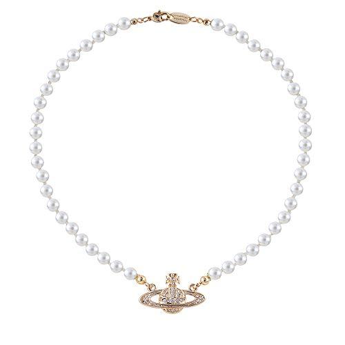 Collana girocollo con ciondolo di perle di Saturno, regalo per migliore amica, fidanzata, compleanno, anniversario e Lega, colore: 3, cod. W0169