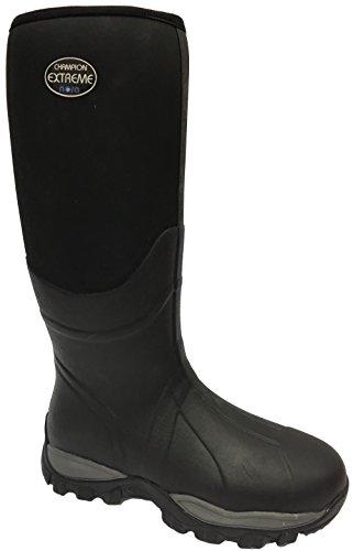 Nora 7962211 Champion Extreme Unisex-Erwachsene Gummistiefel, Regenstiefel, Boots mit Neopren Schwarz (Black), EU 44