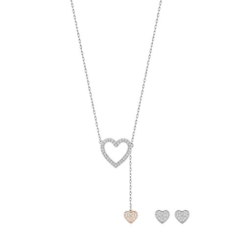 Swarovski Conjunto de joyas para mujer con collar y pendientes rodiados con cristal transparente - 5195169