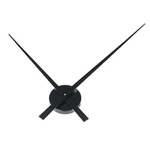HAB & GUT -A01V12- Design Wanduhr Big TIME ohne Ziffern nur Zeiger, SCHWARZ, Umlauf: 90 cm, Quarzwerk