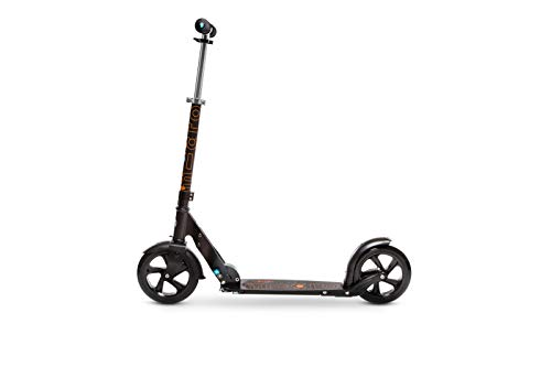 Micro Mobility - Trottinette Black - Grandes Roues - Mobilité Quotidienne et citadine Adulte - Pliable avec lanière de Transport - Béquille intégrée - Confort de Glisse - Couleur Noire