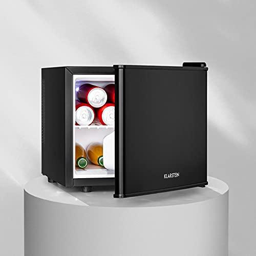 Klarstein Geheimversteck Minibar Minikühlschrank Mini Snacks- und Getränkekühlschrank (17 L, 26 dB leise, herausnehmbarer Regaleinschub, stufenloser Temperaturregler) schwarz