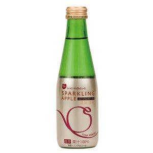 青森県りんごジュース シャイニー スパークリングアップル200ml瓶×2箱 【48本】