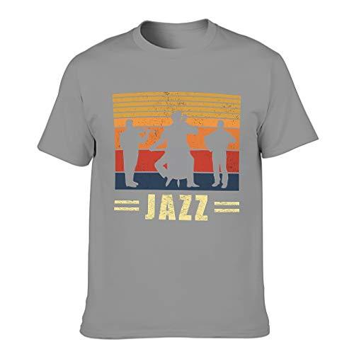 Josephion Camiseta clásica de manga corta para hombre de algodón Jazz