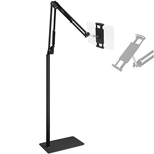 Floor iPad Stand and Holder , Mefetop Floor Stand for Tablet iPhone and iPad Adjustable Height up to 55 inches