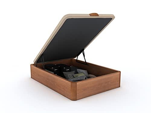 Santino Canapé Abatible Wooden Gran Capacidad Cerezo 180x200 cm con Montaje a Domicilio Gratis