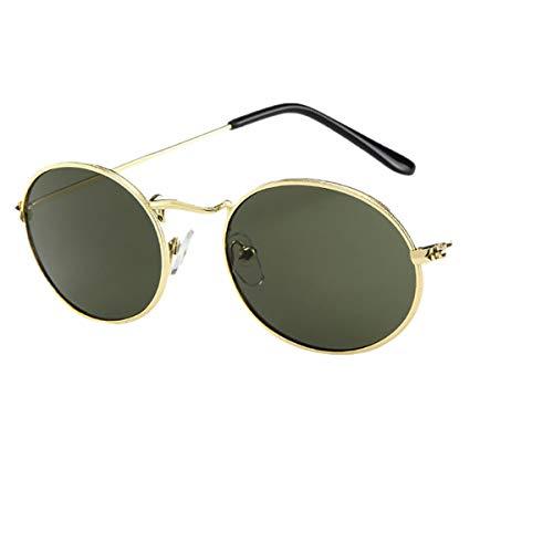 ┃BYEEEt┃ Occhiali da Sole da Donna Vintage,retrò Occhiali da Sole Ovali Occhiali da Sole Vintage Stile Lennon Circolari in Metallo Rotondi