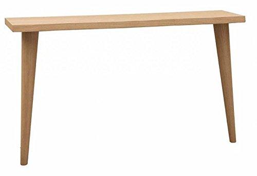 Console design moderne en bois massif, pieds en pin, chêne naturel