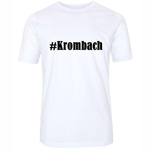 Reifen-Markt Camiseta #Krombach Hashtag para mujer y hombre en blanco y negro