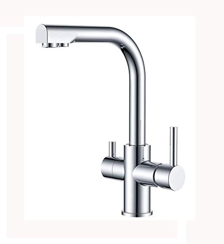 Wasserhahn Doppelgriff heies und kaltes Wasser Becken Küchenarmatur