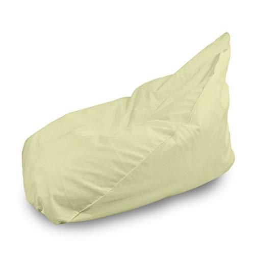 Italpouf Sitzsack Riesensitzsack Cremig 90 x 115 x 80 cm 330l Füllung Outdoor Beanbag