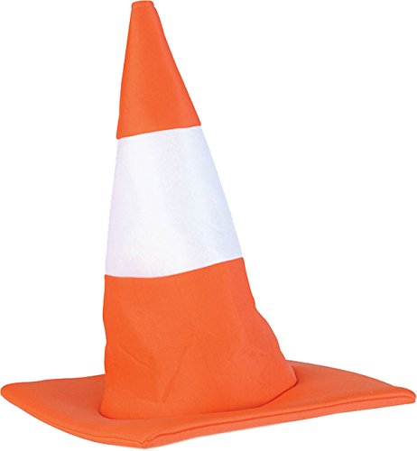 Unisex Adults Fancy Dress Party Headwear Accessory Witch Style Traffic Cone Hat