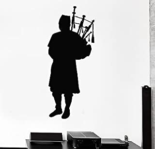 Wall Decal Bagpipes Piper Musical Instrument Scottish Scotland Stickers VS2825