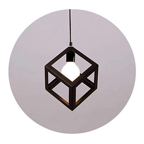 Sgvag Creativa lámpara de techo LED colgante retro Edison iluminación de techo para mesa de comedor, dormitorio, salón, cocina, 1 bombilla E27 máx. 60 W