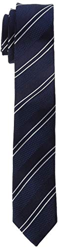 Seidensticker Herren Krawatte Seidenkrawatte 7 cm Breit, Blau (Blau 17), Einheitsgröße