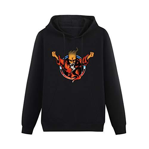Men's stylish Nlking Brand Concerts Thunderdome 25 Years of Hardcore Wizard Hoodies Long Sleeve Pullover Loose Hoody Sweatershirt Black S